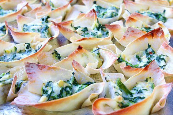 Spinach & Artichoke Cups Recipe | Gimme Some Oven