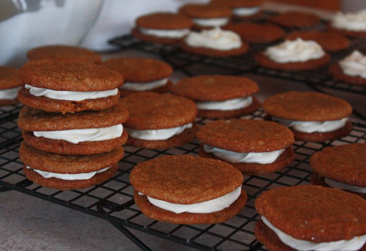 Ginger Spice Cookies with Lemon Cream Cheese Filling