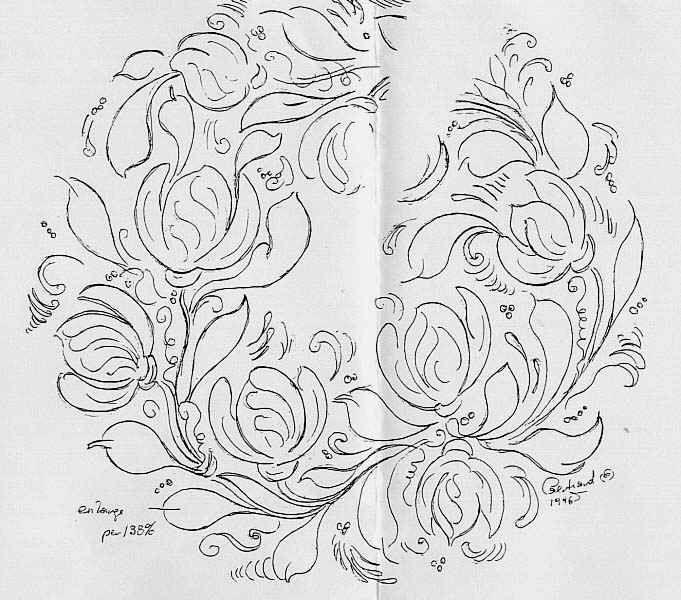 free pattern bauernmalerei decorative painting pie keeper folk