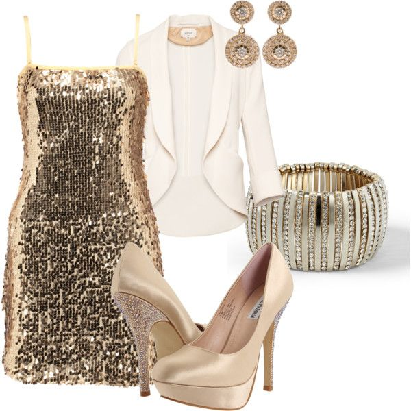 great holiday outfit minus the heels.  a little more classic nude heel would be best:)
