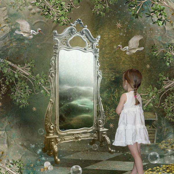 Beautiful shabby chic mirror ♥ love the image