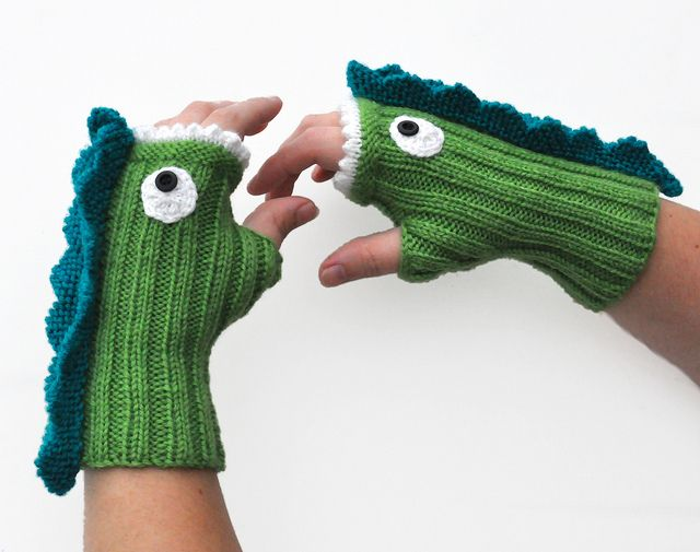 Dragon Gloves Knitting Pattern : Knit Dragon Mitts pattern by NeedleNoodles