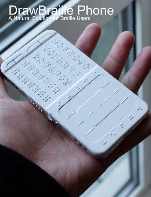 Потрясающий концепт смартфона для слепых.