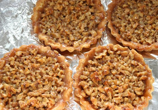 walnut tarts - not the best photo, but a simple scan of the ...