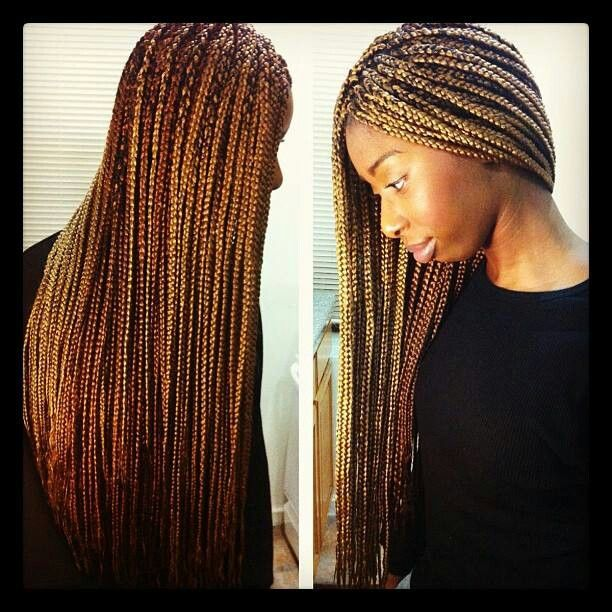 long curly sew in hairstyles : Long box braids Hairstyle ideas Pinterest