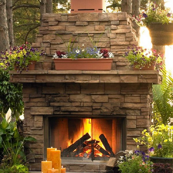 Classic outdoor wood fireplace fireplace ideas pinterest for Wood fireplace designs