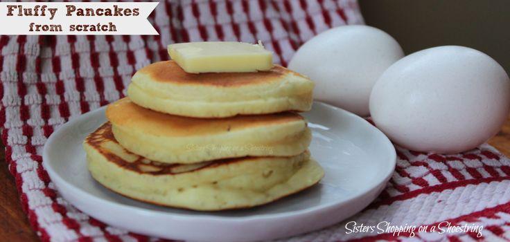 Simple, Fluffy Pancake Recipe! http://www.sistersshoppingonashoestring ...