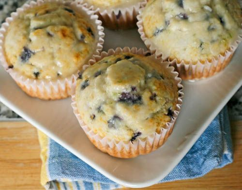 Easy Lime Blueberry Muffins with Lime Glaze | Recipe