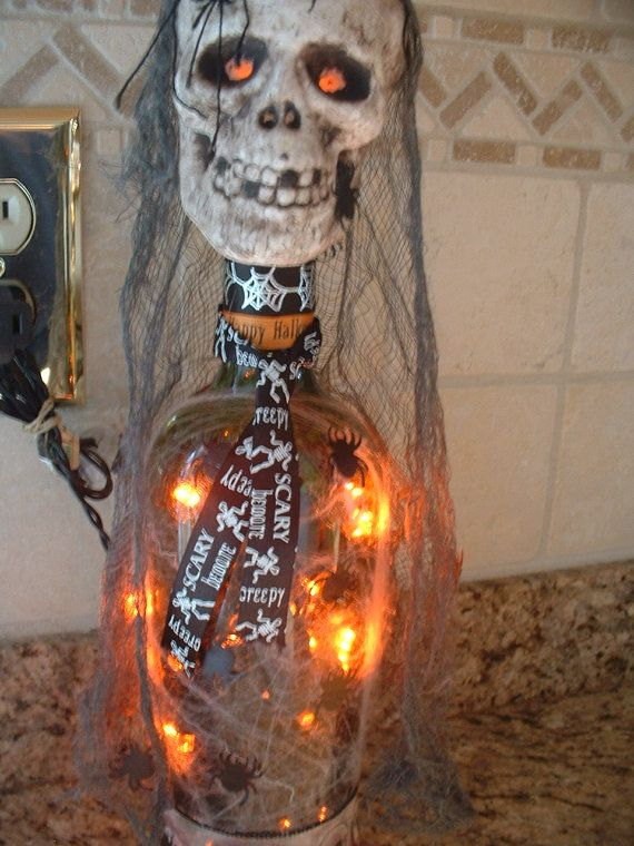 Halloween Decorations Lighted (LED ) Bottles - Very Unique - Led Halloween Decorations