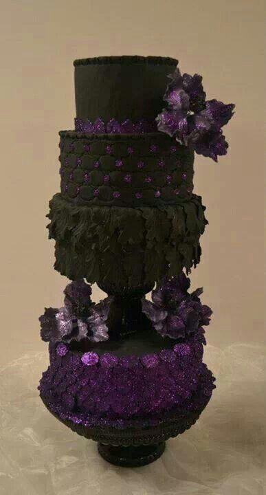 Beautiful Black And Purple Cake Sweet Cakes Pinterest
