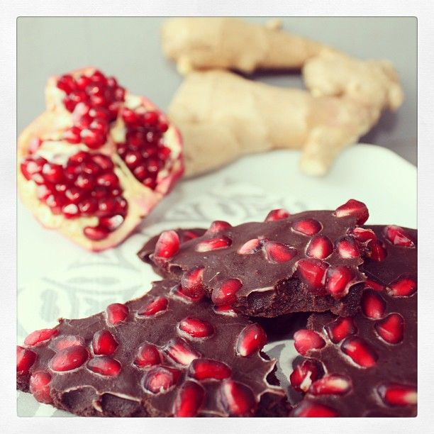 Chocolate pomegranate ginger bark. Just... shut up.