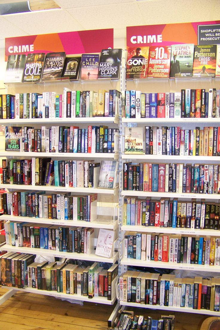 Would you just look at our well stocked crime section! We've had some fantastic donations recently, so thank you to everyone for your brilliant books!