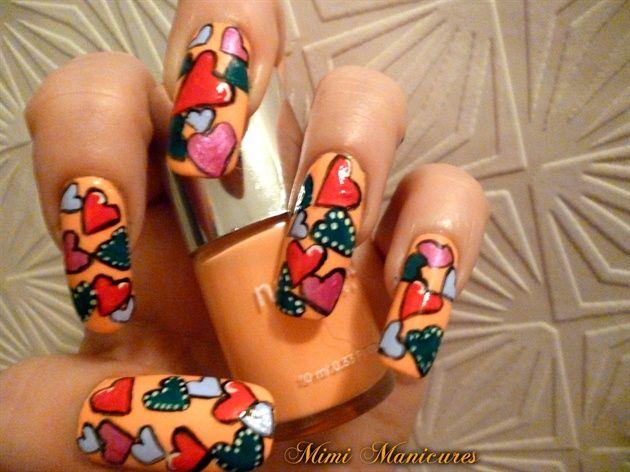 valentine heart nail designs