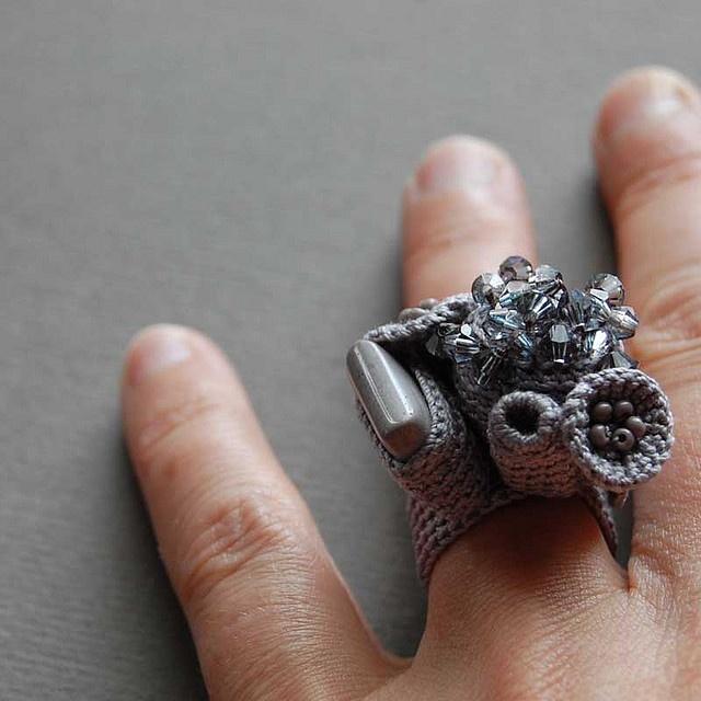 Crocheting Rings : Ring #Crochet #Jewelry Crochet Pinterest