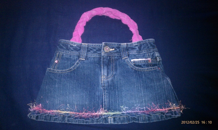 My newest creation... a mini skirt purse *front*