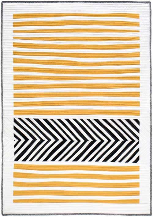 Free Quilt Pattern and Tutorial - Stripes and Herringbone Quilt