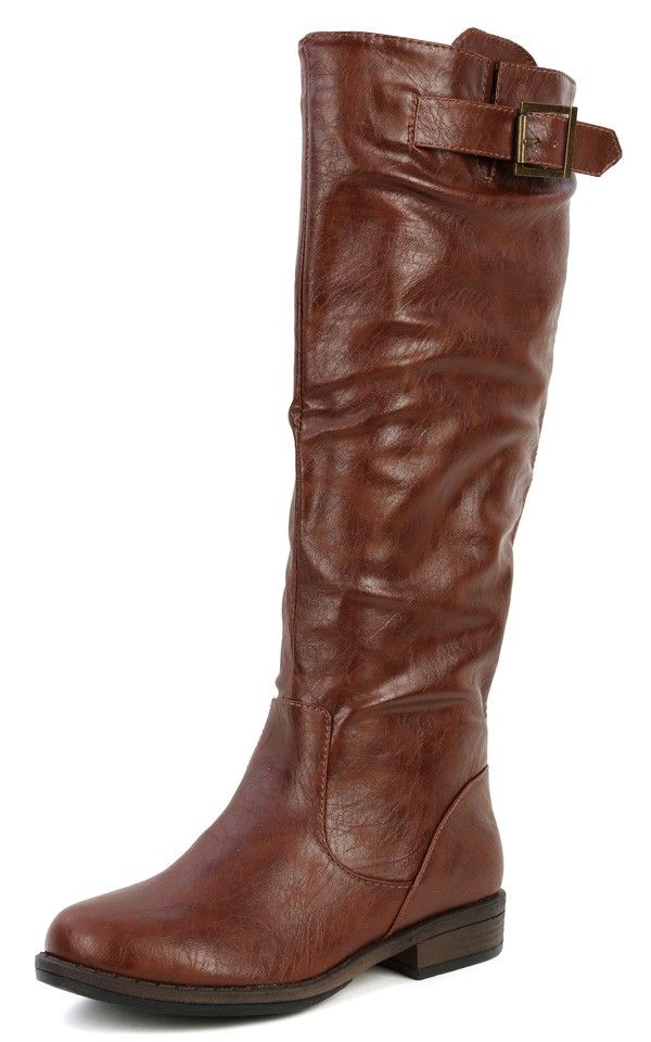 Montage-01n Buckle Riding Boots BROWN