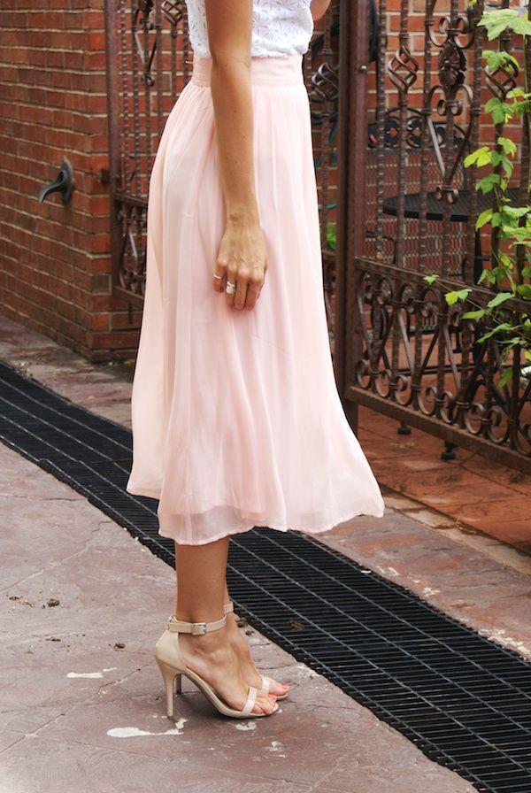 pink pleated midi skirt lenore lam 233 lenore
