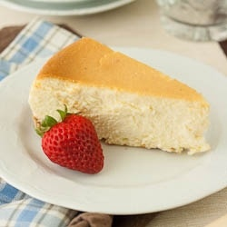Cheesecake - So smooth and delicious- Tall and Creamy Cheesecake!