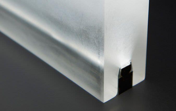 Pin by manifold architecture on pucker pinterest - Decorative glass wall panels ...