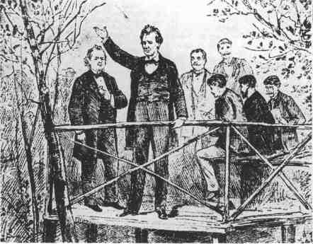 Lincoln Douglas Debates Of 1858 Politics Pinterest