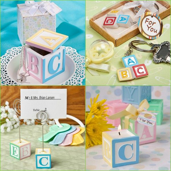 Alphabet Block Favors for Baby Shower from hotref.com