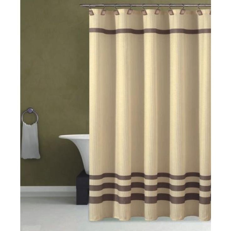 dr international bleecker hotel shower curtain in beige chocolate b