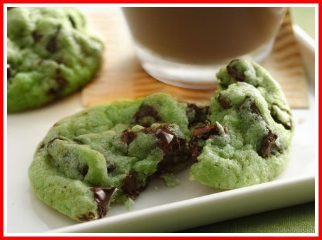Desserts Easy & Quick- mint chocolate chip cookies!