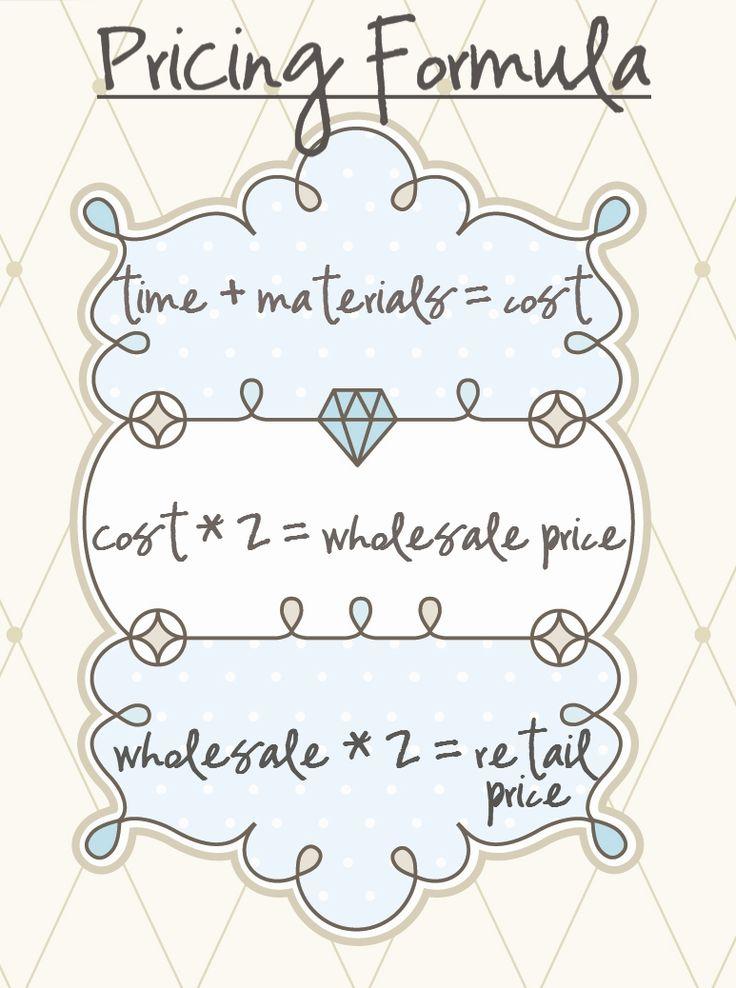 pricing formula! so helpful!!