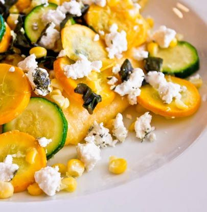 Corn and Goat Cheese Polenta with Garlicky Summer Squash Post Image ...