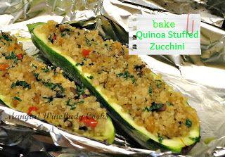 Quinoa Stuffed Zucchini | Recipes | Pinterest