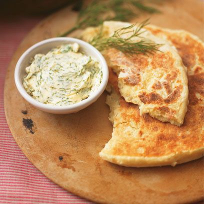 Potato Farls with Dill Butter, Vegetarian