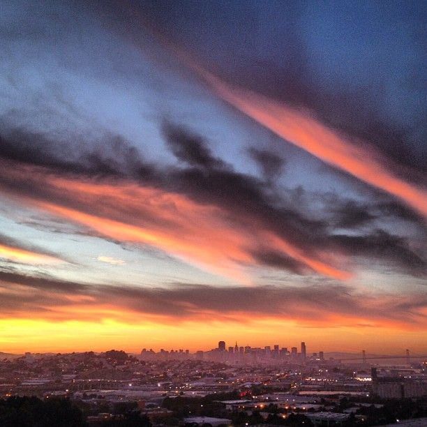 """""""Sunset over paradise. Photo by Charles Thi. #49HoursofSF""""   http://instagram.com/p/MZ3TXjCEKD/#"""
