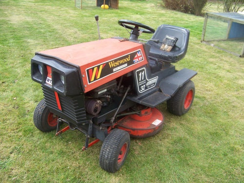 Westwood Ride On Tractor / Mower  Item condition:Used  Time left:28m 58s (21 Apr, 201211:28:12 BST)  Current bid:£180.00  [ 7 bids ]      Place bidPlace bid  (Enter £185.00 or more)      Add to Watch list    Postage:Collection in Person    |  See all delivery details    Item location: Hungerford, Berkshire, United Kingdom    Post to: United Kingdom  Payments:  PayPal | See payment information  Returns: