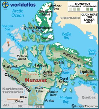 nunavut canada is in what type of biome