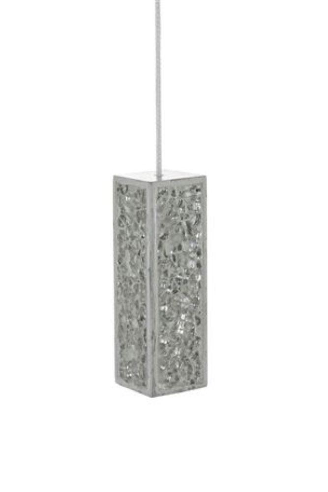 New Next Bathroom Light Pull Silver Crackle Sparkle Bling Mirror Glit