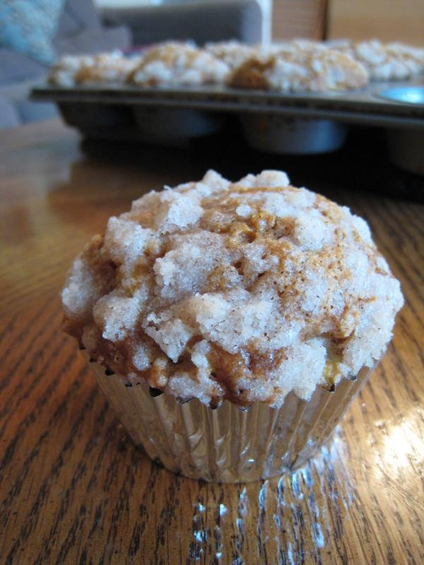 Pumpkin-Apple Streusel Muffins (I made these with banana ...