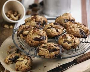 ... favourite cookies come studded with dark chocolate chunks and walnuts