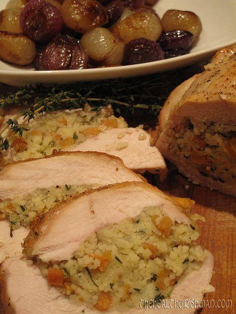 Persimmon & Couscous Stuffed Turkey by thehealthyirishman on Flickr