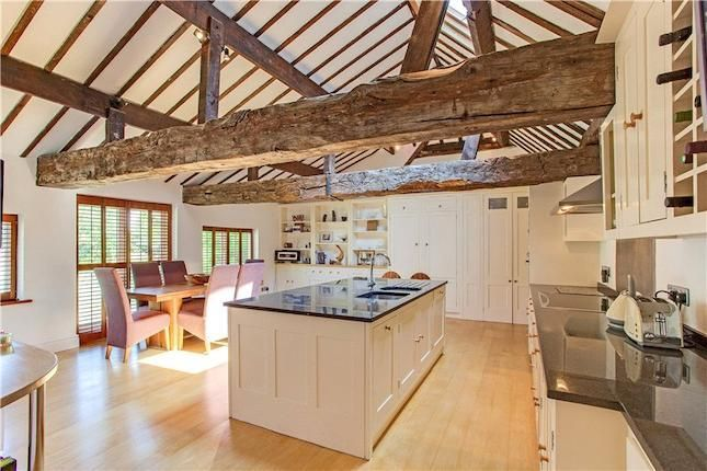 Barn Conversion Kitchen Up For Sale At Million Pound