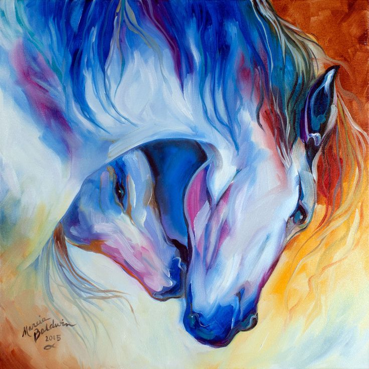 Horse love painting