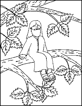 Zacchaeus Coloring Pages For Preschoolers Preschool