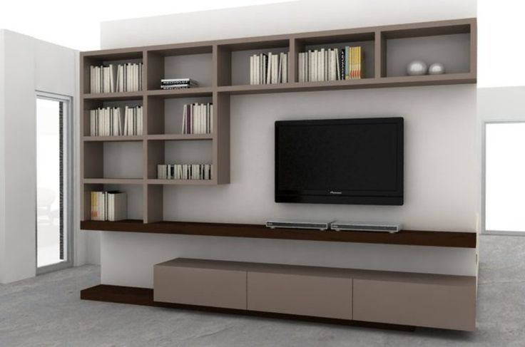 Mueble LCD + biblioteca  Mobiliario para LCD componible  Pinterest