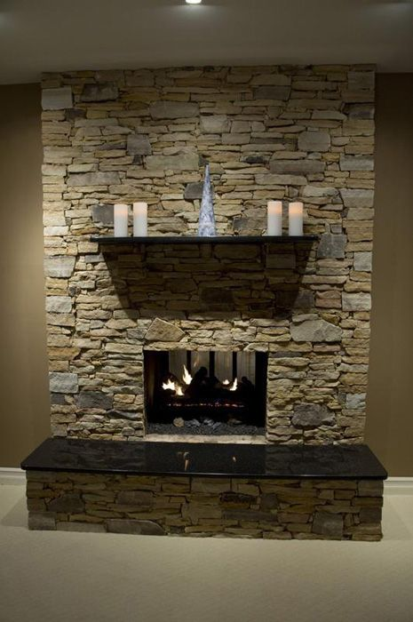 Stone Fireplace Paint Color For Walls For The Home Pinterest