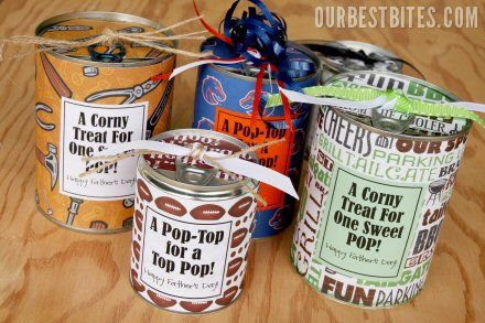 Father's Day Tin Can Treats