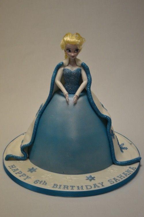 Elsa From Frozen Doll Cake  Birthday Ideas  Pinterest
