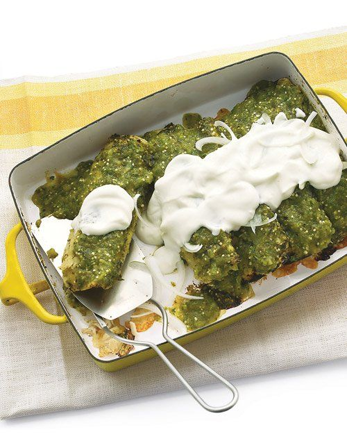 Chicken Enchiladas Verdes | yum.... | Pinterest