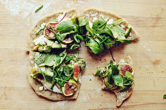 rustic fig and goat cheese pizza. via sprouted kitchen on etsy storque
