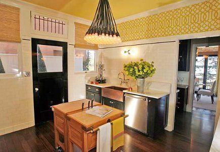 Yellow Black And White Kitchen Ideas Pinterest