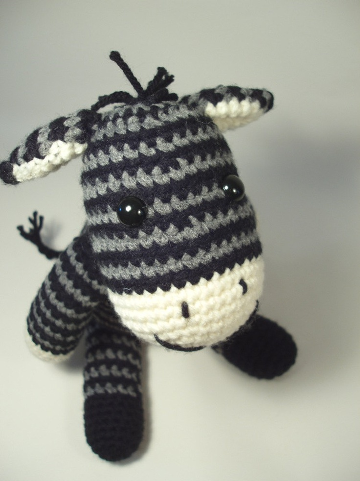 Crochet Zebra : Crocheted Zebra. Okay who can crochet that wants to make this for my ...